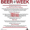 2019 Beer Week Schedule