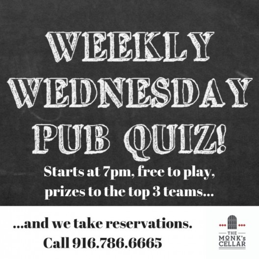 Pub Quiz is Back After Two Weeks Off!