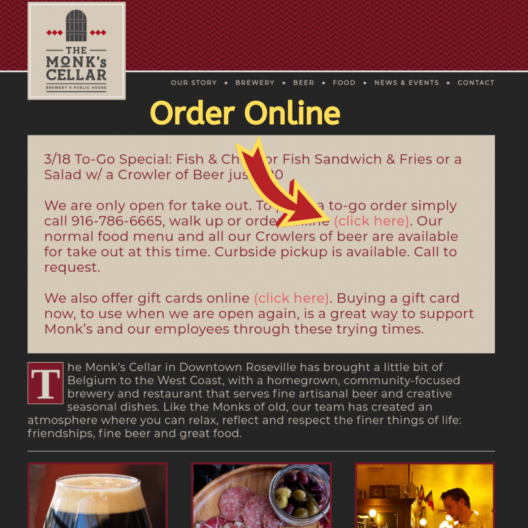 Online Ordering, Delivery & Curbside Pickup Available!