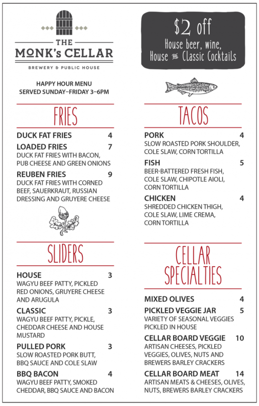 New Happy Hour Menu!