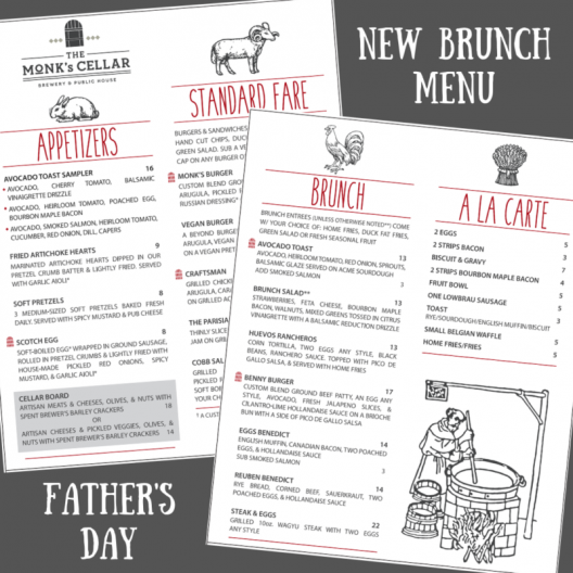 New Brunch Menu Starting Father's Day!